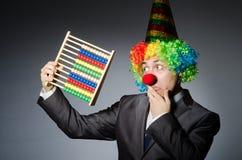 Funny clown businessman Stock Photos