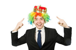 Funny clown businessman Royalty Free Stock Photos