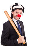 Funny clown businessman isolated Royalty Free Stock Photography