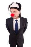 Funny clown businessman Stock Photo