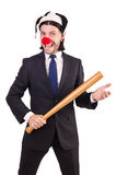 Funny clown businessman Stock Photo