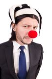Funny clown businessman Royalty Free Stock Images