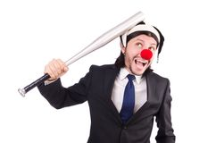 Funny clown businessman Stock Images