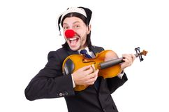 Funny clown businessman Royalty Free Stock Photography
