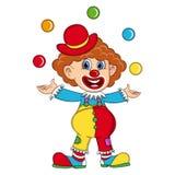 Funny Clown cartoon. Full color Royalty Free Illustration
