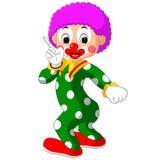 Funny clown cartoon. Illustration of Funny clown cartoon vector illustration