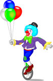 Funny clown cartoon Stock Photo