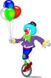 Funny clown cartoon Stock Photo