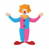 Funny clown cartoon. On a white background Royalty Free Stock Image