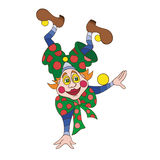 Funny clown character vector illustration Royalty Free Stock Photography
