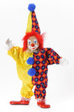 Funny clown with colorful costume Stock Images