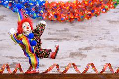 Funny clown with colorful costume Royalty Free Stock Photography