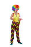 Funny clown in colorful wearing Stock Image