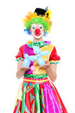 Funny clown - colorfullportrait Stock Image