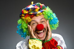 Funny clown in colourful Royalty Free Stock Image