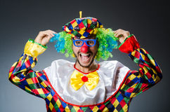 Funny clown in colourful Stock Images