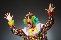 Funny clown in colourful Stock Image