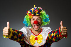 Funny clown in colourful Royalty Free Stock Photos