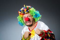 Funny clown in colourful Royalty Free Stock Photography
