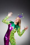 Funny clown in colourful Royalty Free Stock Photo
