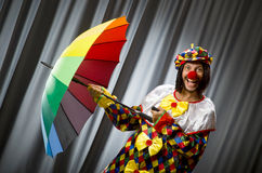 Funny clown with colourful Stock Images