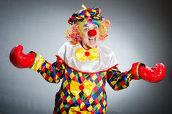Funny clown in comical concept Stock Photo