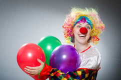 Funny clown in comical concept Royalty Free Stock Image