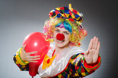 The funny clown in comical concept Royalty Free Stock Photography