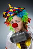 The funny clown in comical concept Royalty Free Stock Photos