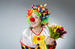 The funny clown in comical concept Royalty Free Stock Images
