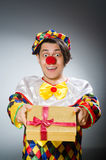 The funny clown in comical concept Royalty Free Stock Photo