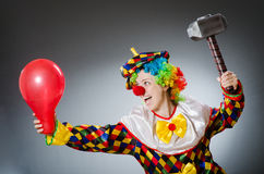 The funny clown in comical concept Stock Photography