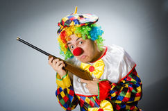 The funny clown in comical concept. Funny clown in comical concept royalty free stock photo