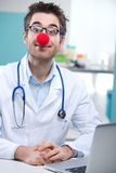 Funny clown doctor Royalty Free Stock Photo