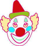Funny clown face vector illustration