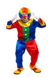 Funny clown full length isolated on white Stock Image
