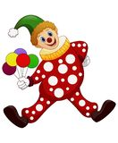 The funny clown holding balloons. Vector illustration vector illustration