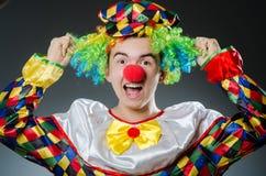 Funny clown in humor Stock Image