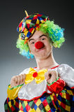 Funny clown in humor Stock Image