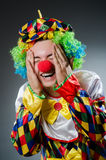 Funny clown in humor Stock Images