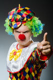 Funny clown in humor Royalty Free Stock Photo
