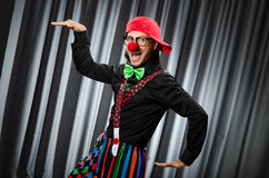 Funny clown in humorous concept Stock Images