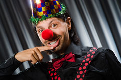 Funny clown in humorous concept Stock Photos