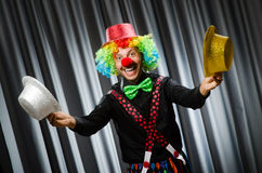 Funny clown in humorous concept Stock Photography
