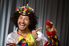 Funny clown in humorous concept Stock Image