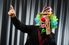 Funny clown in humorous Stock Image