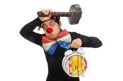 The funny clown isolated on white Royalty Free Stock Image