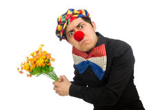The funny clown isolated on white Royalty Free Stock Photos