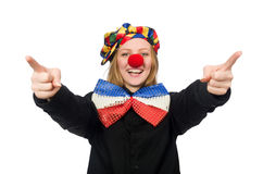 Funny clown isolated on white Stock Photos