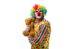 The funny clown isolated on white background. Funny clown isolated on white background stock photos